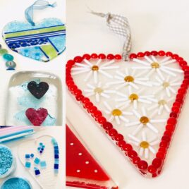 Fused Glass Heart Sun Catcher Workshop –  Morning – Saturday 16th October 2021 – Bournemouth