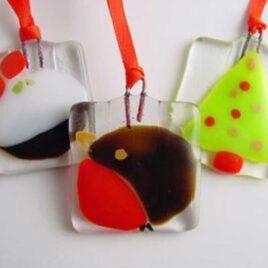 Fused Glass Christmas Decorations - Linda Rowe